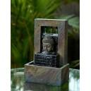 fontaine bouddha tête cascade