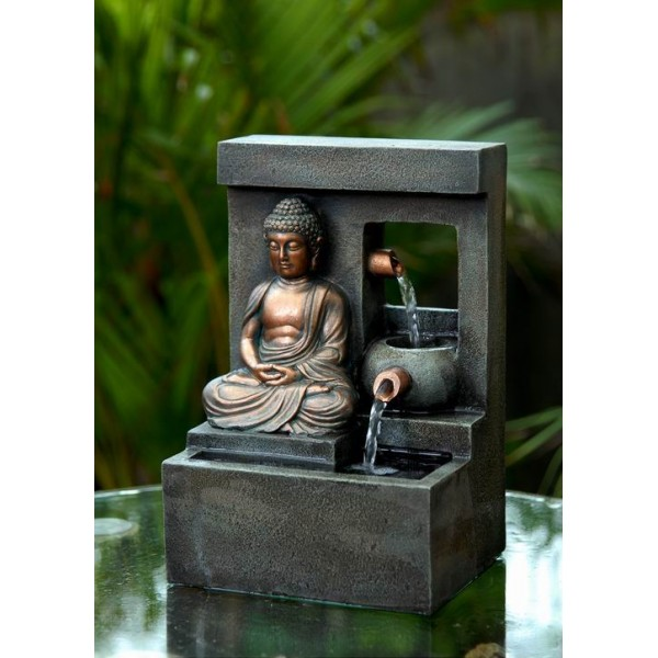 fontaine bouddha m ditation ruisseau world in. Black Bedroom Furniture Sets. Home Design Ideas