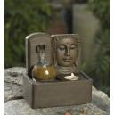 fontaine bouddha tête hémiédrique